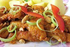 Pikantní kuřecí nudličky No Salt Recipes, Tandoori Chicken, Chicken Wings, Sausage, Meat, Ethnic Recipes, Cooking, Salt Free Recipes, Sausages