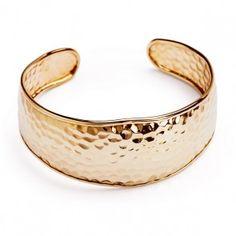 Niesamowita szeroka złota #bransoleta - Biżuteria srebrna dla każdego tania w sklepie internetowym Silvea