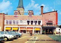Hengelo. Restaurant Cosa aan de Markt omstreeks 1957