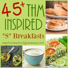 "45+ Trim Healthy Mama ""S"" Breakfasts"