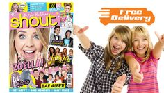 Buy 5 Shout Magazines - Free Delivery! UK deal for just: £18.99 Treat your teen to Shout with this Magazine Subscription      Receive five issues, one every three to four weeks      Crammed with celeb gossip, gifts and lols      Full of fashion, beauty and freebies      Ideal gift for a teen girl      Issues delivered straight to your door      Loads of life inspo and advice      Every teen problem solved.      Get 5 Issues of Shout Magazine for 18.99 pound BUY NOW for just GBP18.99