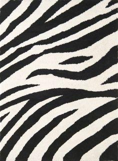 Cloud Zebra Stripe Shag Rug