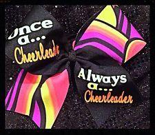 Cheer Bow - Neon - Once A Cheerleader Always A Cheerleader - Boutiquebows