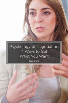 How to negotiate effectively.