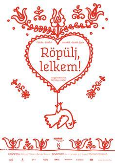 Röpülj lelkem- theater poster design: Anna Korolovszky