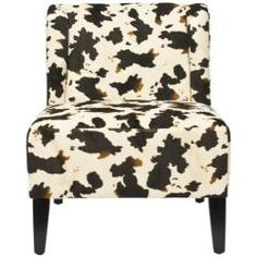 @Overstock.com - Bring some country charm to your living space with this cowhide-print lounge chair. With solid wood construction finished in black and thick cushioning for comfort, this fun and funky chair will provide your room with added visual appeal.http://www.overstock.com/Home-Garden/Cow-Hide-Print-Lounge-Chair/6002279/product.html?CID=214117 $181.79
