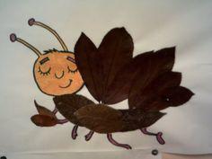Con le foglie autunnali gli alunni hanno realizzato dei simpatici animaletti e con i pennarelli hanno poi disegnato i particolari…