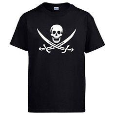 Camiseta Calavera Pirata, Negro, 3-4 años #camiseta #friki #moda #regalo