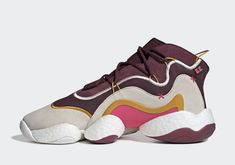 7cdef119b61e8 Eric Emanuel adidas Originals Crazy BYW sneakers shoes release date Maroon  Cream White Real Pink