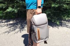 Moshi Arcus Review: The Best Backpack I've Found  The only improvement we could ask for is a little more padding on the bottom of the laptop section to give us peace of mind when setting the bag down on hard surfaces. #laptopbackpack