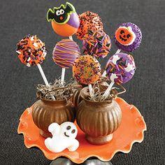 Tricks on Sticks (via Parents.com) http://www.parents.com/recipe/cookies/tricks-on-sticks/
