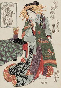 artist Keisai Eisen. 10w