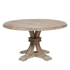 Archer Wash Oak Fixed Pedestal Dining Table Round Dining Table Round Farmhouse Table, Rustic Table, Diy Table, Rustic Farmhouse, Barn Table, French Farmhouse, Pedestal Dining Table, Dining Room Table, Round Dining Tables