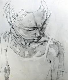 Figure study done by Simon Birch Simon Birch, Art Sketches, Art Drawings, Human Figure Drawing, Sketch Inspiration, Creative Inspiration, Artist Profile, Graphic Illustration, Amazing Art