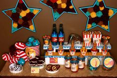 Vintage Circus Party - Dessert Table