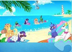 Puzzle cu Poneii la Plaja