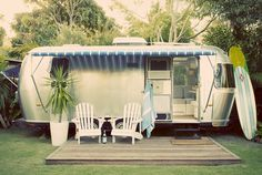 Vintage Airstreams are fabulous for traveling and living out and about the country side.