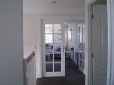 Upstairs Playroom with bay window. Dulux 'Antique White USA' lathered on every wall! Home, Flooring Near Me, House Styles, Cheap Carpet Runners, Interior, Redecorating, House, Internal Glass Doors, Home Furnishings