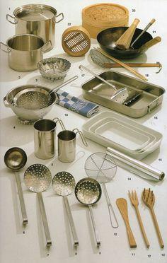 The pasta maker's equipment...