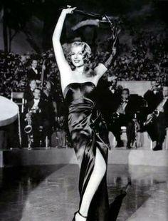 """Rita Hayworth, in """"Gilda"""", 1946."""