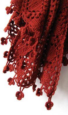 Terra Rossa  Crochet Shawl  Handmade Accessory  Ready To