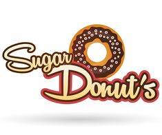 Sugar Donuts Logo Design #food #logo #logodesign #logodesigenr #graphicdesign