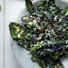 Grilled Kale With Parmesan Dressing recipe