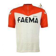 Eddy rides again.  #eddymerckx #faema #eroica #vintagecycling #cyclingjersey #alwaysriding