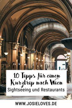 Die schönsten Restaurants und die besten Tipps fürs Sightseeing in Wien. Alles, was du für einen Wochenendtrip wissen musst. Travel Guides, Travel Tips, Budapest, Josie Loves, Vienna Austria, Weekend Trips, Cathedral, Travel Destinations, Restaurants