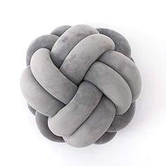 FLORAVOGUE Small Knot Pillow Home Decorative Cushion - Modern Home Sofa Decor Throw Pillow 10 - Light Gray