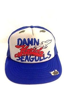 Damn Florida Seagulls Hat Beat Up Bird Poop Snapback Trucker Cap 4e8056237cc4
