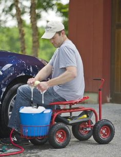 Deluxe Tractor Scoot with Bucket Basket. It's not just for the garden! Exclusively from Gardener's Supply.