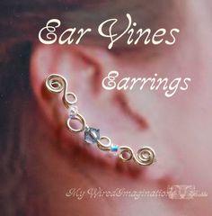 Ear Vines, Beginner Wire Jewelry Tutorial, Earrings for Pierced Ears - Instant Download PDF File via Etsy