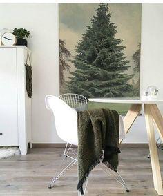 Me encanta esta idea que he visto en @iloustrations. Ideal para casas pequeñitas que no quieren prescindir de un árbol XL