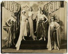 Pretty Jazz Age Flapper Showgirls Vintage Chorus Girls Large Theatre Photograph