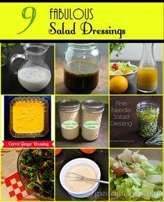 Nine Fabulous Salad Dressing Recipes