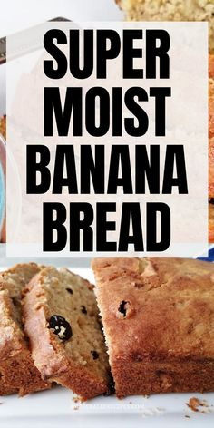 Looking for super moist banana bread? Discover this extra moist banana bread. Best banana bread recipe moist simple. The best banana bread recipe ever Super Moist Banana Bread, Healthy Banana Bread, Best Banana Bread, Baked Banana, Banana Bread Recipes, Clean Eating Menu, Clean Eating Grocery List, Eating Raw, Raw Banana
