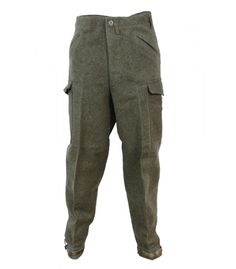 Genuine imported Army Navy goods and survival gear from around the world. Swiss Link also supplements their line of real military surplus with authentic NATO style Wavian USA fuel cans and emergency StormBags by StormTec USA. Army Pants, Military Pants, Military Uniforms, Swedish Army, Military Surplus, Leg Cuffs, Army & Navy, Wool Pants, Military Fashion