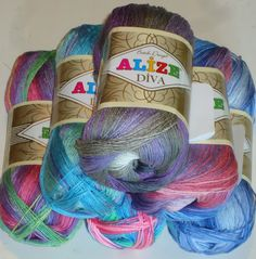 400g of silk effect Alize Diva Batik microfibre, a fabulous knitting and crochet yarn. Only £8.25 at The Knitting Wool Store http://www.the-knitting-wool-store.com/400g-diva-batik.html