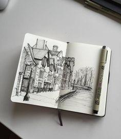 Moleskine sketchbook, sketchbook drawings, sketchbook ideas, sketchbook ins Moleskine Sketchbook, Sketchbook Drawings, Drawing Sketches, Art Drawings, Pencil Drawings, Inspiration Art, Sketchbook Inspiration, Art Inspo, Sketchbook Ideas