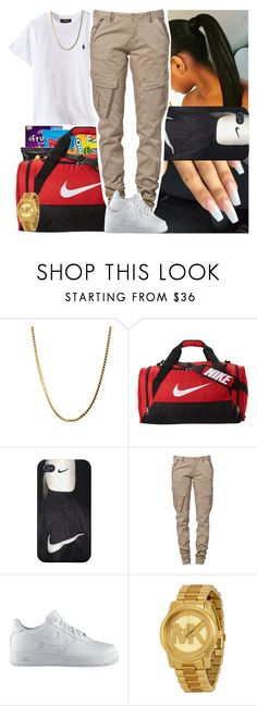 """""""Think of me as one of the boys"""" by msixo ❤ liked on Polyvore featuring NIKE, CREAM and Michael Kors"""
