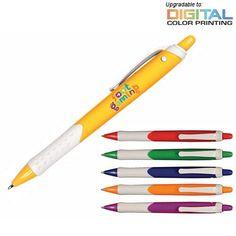 Promotional Summer Fun Grip Pen | Customized Plastic Retractable Pens | Promotional Plastic Retractable Pens