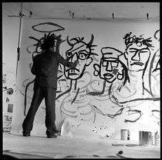 31 ART — twixnmix: 5 am Basquiat 1982 Photos by Edo. Andy Warhol, Robert Rauschenberg, Keith Haring, Jean Michel Basquiat Art, Jean Basquiat, Radiant Child, Pablo Picasso, Whitney Museum, Portraits
