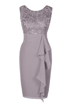 Women's Plus Size Basic Slim Bodycon Sheath Dress - Solid Colored Beige Gray S M L XL 2019 - € Source by egiannakogiorgo Dresses Mother Of Bride Outfits, Mother Of Groom Dresses, Mothers Dresses, Bride Dresses, Short Lace Bridesmaid Dresses, Lace Bridesmaids, Sheath Dresses, Elegant Dresses, Pretty Dresses