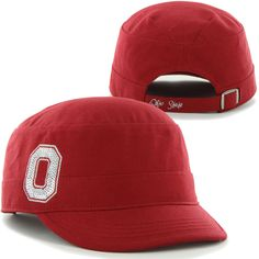 '47 Brand Ohio State Buckeyes Ladies Sparkle Military Adjustable Hat – Scarlet