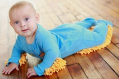 Baby-Mop outfit . It's quite literally 'Kid Cleaning.'