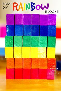 How to Make Rainbow Blocks: A Simple and Inexpensive DIY from An Everyday Story (Inspired by 150+ Screen-free Activities for Kids)