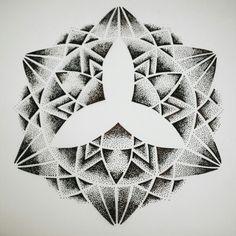 Geometry in dots #blackspottattoocompany #sketches #sharpie #dotwork