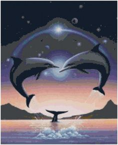 Hey, I found this really awesome Etsy listing at https://www.etsy.com/listing/194958394/cross-stitch-pattern-dolphin-fantasy-3