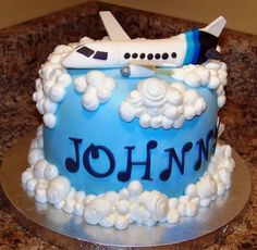 Image detail for -Private jet airplane birthday cake. Airplane Birthday Cakes, Twin Birthday Cakes, Birthday Cake Pictures, Birthday Cake Toppers, Airplane Cakes, Airplane Party, Birthday Ideas, 4th Birthday, Planes Cake
